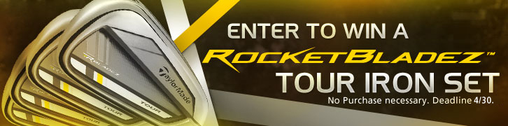 Enter to Win a Preowned TaylorMade RocketBladez Tour Iron Set