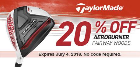 20% Off Aeroburner Fairway Woods