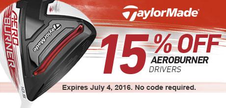 15% Off Aeroburner Drivers