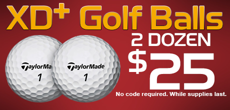 TaylorMade XD+ Golf Ball, 2 for $25