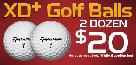 XD+ Golf Balls - 2 Dozen for $20